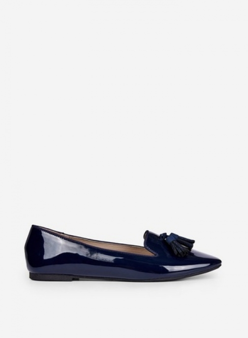 Dorothy Perkins Wide Fit Navy 'Petal' Loafers Shoes