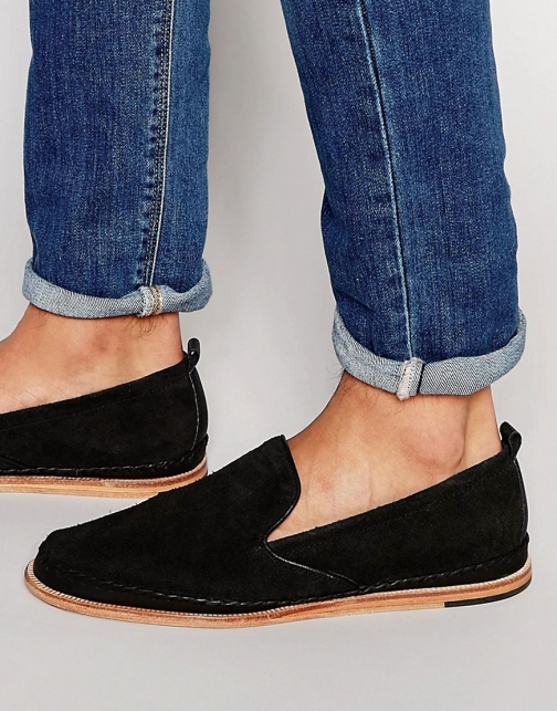 Asos Hudson London Macuco Suede Loafer
