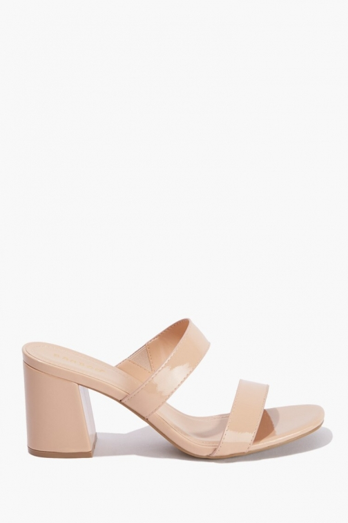 Forever21 Faux Patent Leather Block Heels At Forever 21 , Nude Shoes
