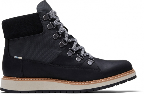 Toms Waterproof Black Leather And Nylon Women's Mesa Boot