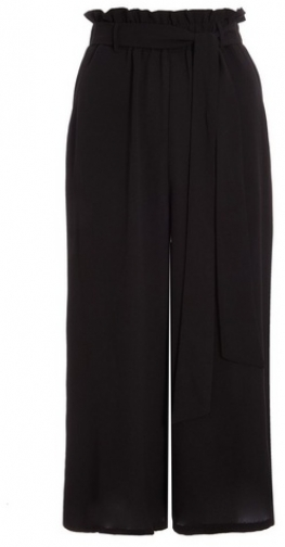Quiz Black Belted Culotte Trousers Trouser