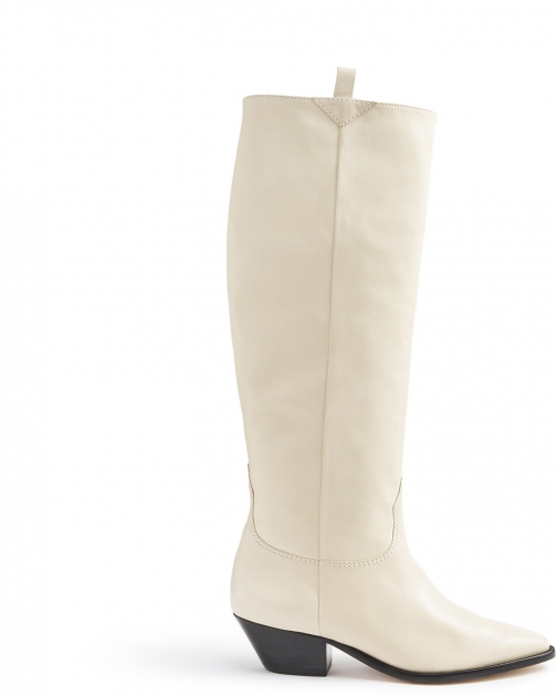 Schutz Shoes Hileni - 5 Eggshell Leather Boot