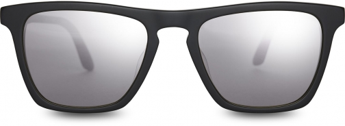 Toms Dawson Matte Black With Chrome Flash Mirror Lens Sunglasses