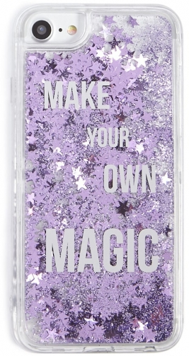Forever21 Forever 21 Magic Waterfall For IPhone 6/7/8 , Clear/purple Case