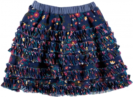 House Of Fraser Rockin' Baby Girls Floral Print Layered Skirt