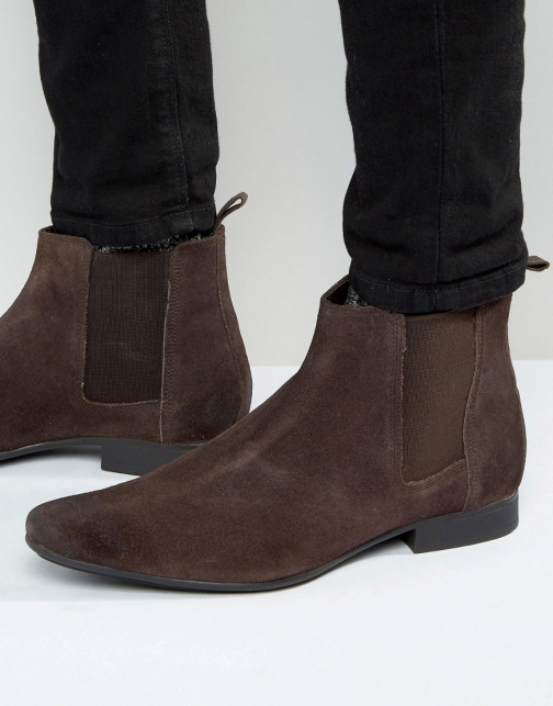 Frank Wright Chelsea Brown Suede Boot
