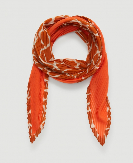 Ann Taylor Factory Giraffe Pleated Square Scarf