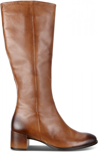 Ecco Shape 35 Block Tall Size 5-5.5 Amber Boot