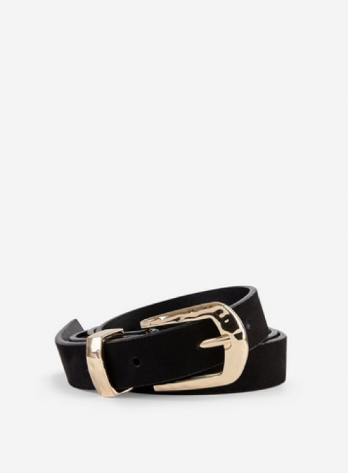 Dorothy Perkins Black Hammered Square Buckle Belt