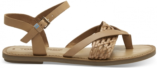 Toms Honey Leather With Synthetic Braid Strap Women's Lexie Sandals