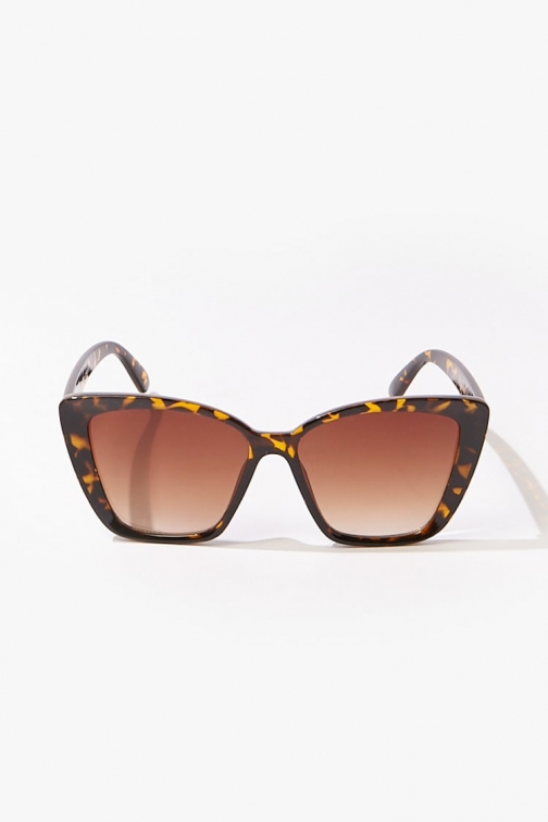 Forever21 Forever 21 Square Tinted , Brown/brown Sunglasses