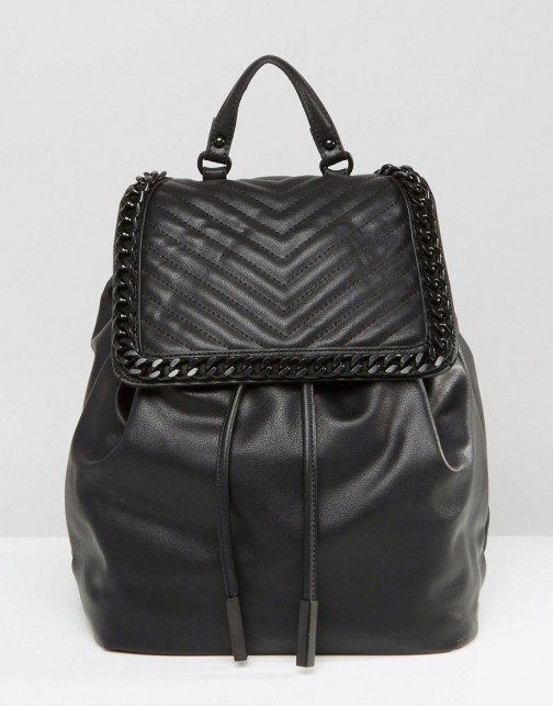 Aldo With Chevron & Chain Detail Backpack