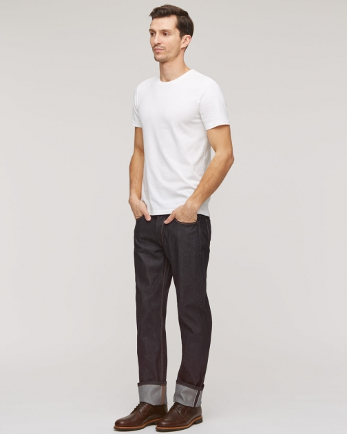 Jigsaw Selvedge Denim Straight Jeans