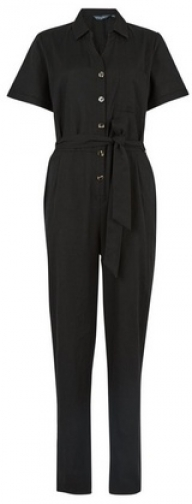 Dorothy Perkins Tall Black Utility Woven Jumpsuit