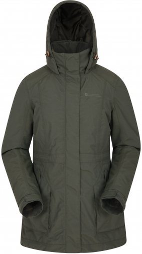 Mountain Warehouse Street Womens Waterproof Padded - Green Jacket