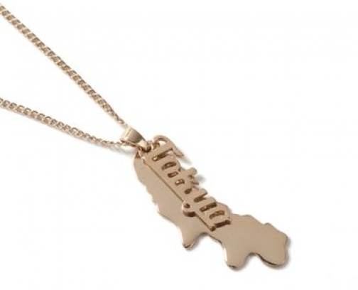 Topman Mens Gold Look Tokyo Tag *, GOLD Necklace