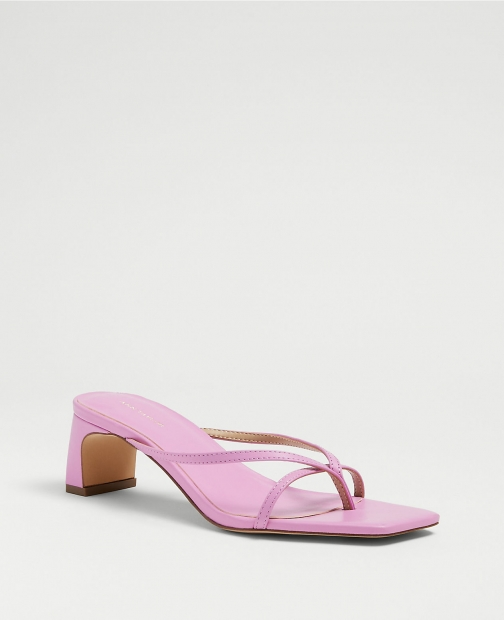 Ann Taylor Emily Leather Thong Mule Sandals