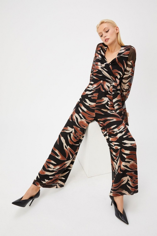 Coast Curve Burnout Animal Multi, Multi Jumpsuit