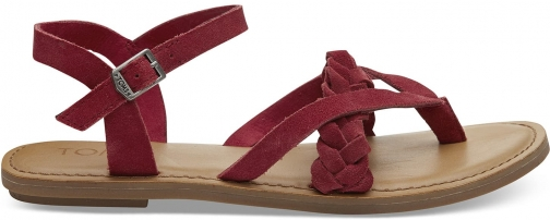 Toms Red Suede Women's Lexie - Size UK7.5 / US9.5 Sandal