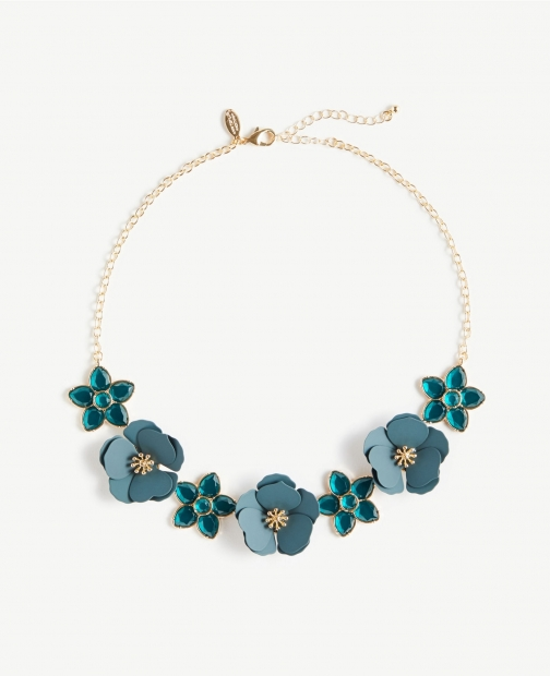 Ann Taylor Floral Statement Necklace