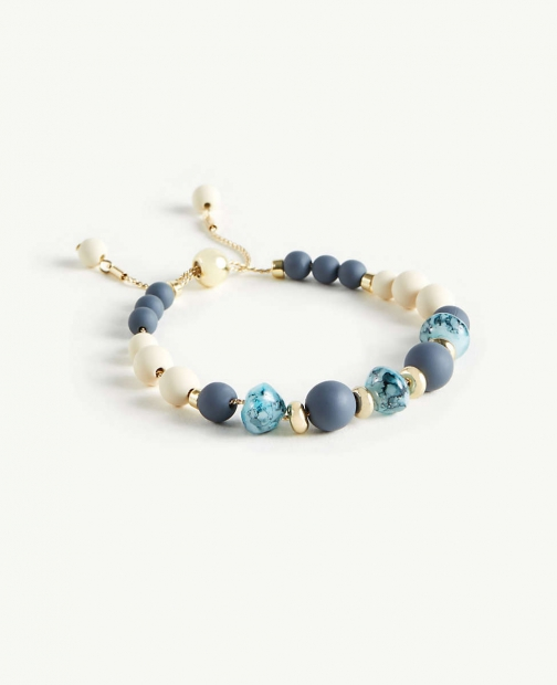 Ann Taylor Matte Beaded Pull Through Bracelet