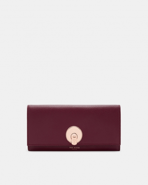 Ted Baker Circle Lock Leather Matinee Purse