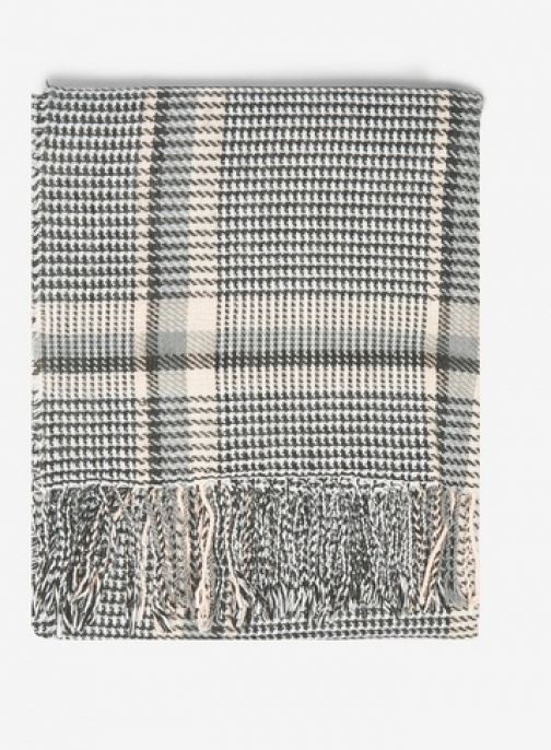 Dorothy Perkins Womens Multi Colour Prince Of Wales Checked - Black, Black Scarf