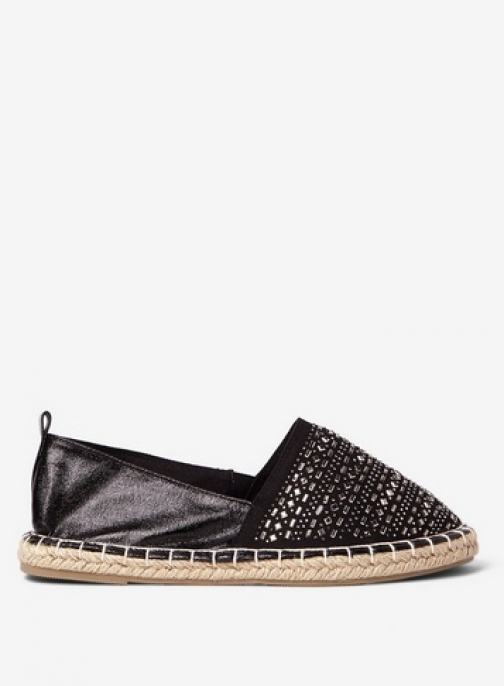 Dorothy Perkins Womens Wide Fit Black 'Chloe' - Black, Black Espadrille