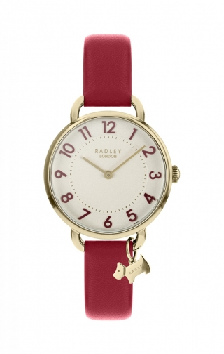 Oasis London Southwark Park Red Leather Watch