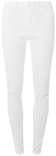 Dorothy Perkins Womens **Tall White 'Darcy' Skinny Ankle Grazer - White, White Jeans