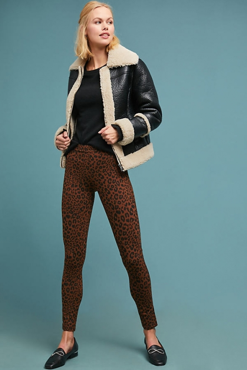 Anthropologie Leopard-Print - Assorted, Size Legging