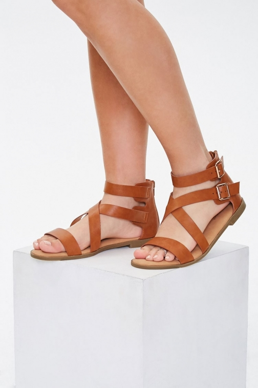 Forever21 Forever 21 Bamboo Strappy , Tan Sandals