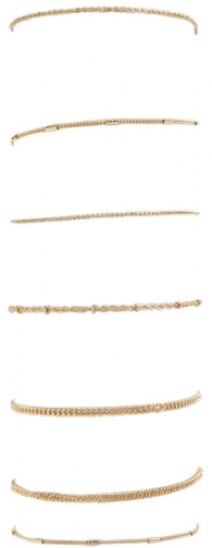 Forever21 Forever 21 Assorted Beaded Chain Set , Gold Bracelet