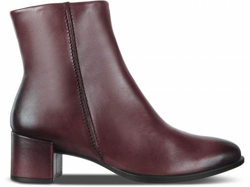 Ecco Shape 35 Block Size 6/6.5 Bordeaux Ankle Boot