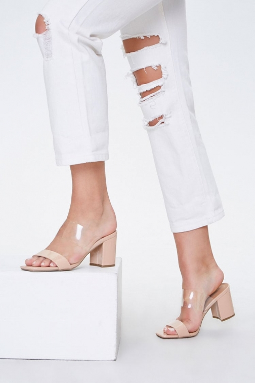 Forever21 Forever 21 Slip-On Block Heels , Nude Shoes