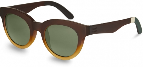 Toms Traveler By TOMS Florentin Matte Butterscotch Gradient Bottle Green Lens Brown With Glass Bottle Green Lens Sunglasses