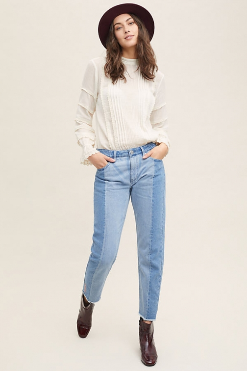 2Nd Day Stevie High-Rise Fringed Straight Jeans