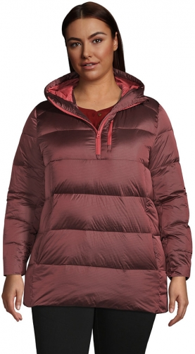 Lands' End Women's Plus Size Wide Channel Down - Lands' End - Red - 1X Pullover