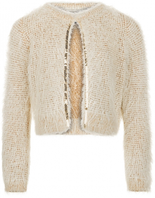 Monsoon Girls Allie Fluffy Cardigan