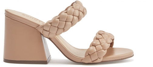 Schutz Shoes Elida Sandal - 5 Honey Beige Leather Sandals