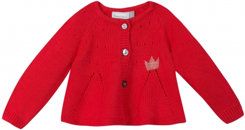 Catimini Baby Girls Crown Knit Cardigan
