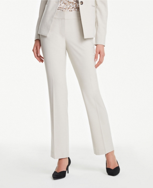 Ann Taylor Curvy Straight Leg Pants Neutral Trouser
