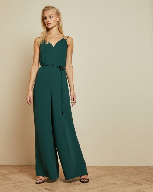 Ted Baker Cord Trim Wide Leg Jumpsuit