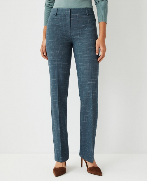Ann Taylor The Straight Pant Crosshatch Trouser