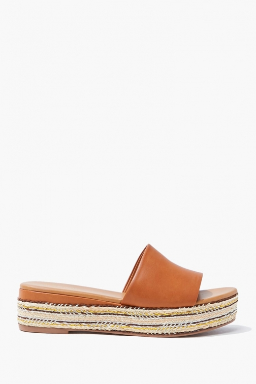 Forever21 Forever 21 Slip-On Espadrille , Brown Sandals
