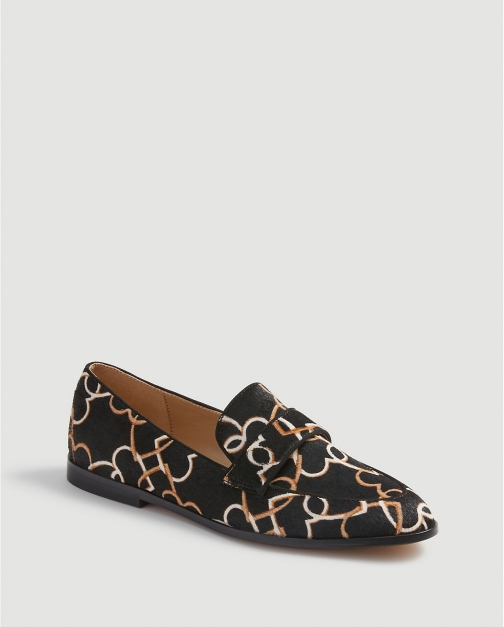 Ann Taylor Luci Heart Chain Haircalf Loafers Shoes