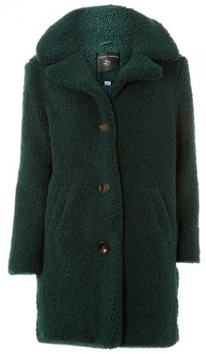 Dorothy Perkins Womens Green Button Front Teddy - Green, Green Coat