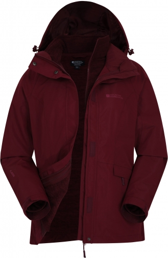 Mountain Warehouse Thunderstorm 3--1 Womens - Red Jacket