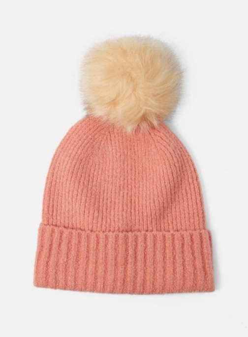 Dorothy Perkins Womens **Pieces Pink Wool Pom Pom - Pink, Pink Hat