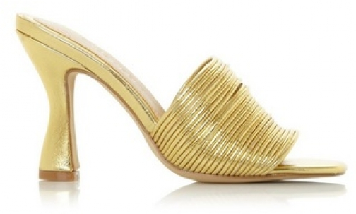 Head Over Heels By Dune Gold 'Mae' High Heel Sandals